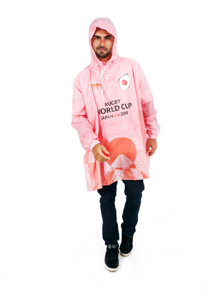 Japan II Official Rugby World Cup 2019 Eco-Friendly Unisex Rain Poncho - 365Dry