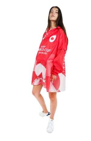 Japan Official Rugby World Cup 2019 Eco-Friendly Unisex Rain Poncho - 365Dry