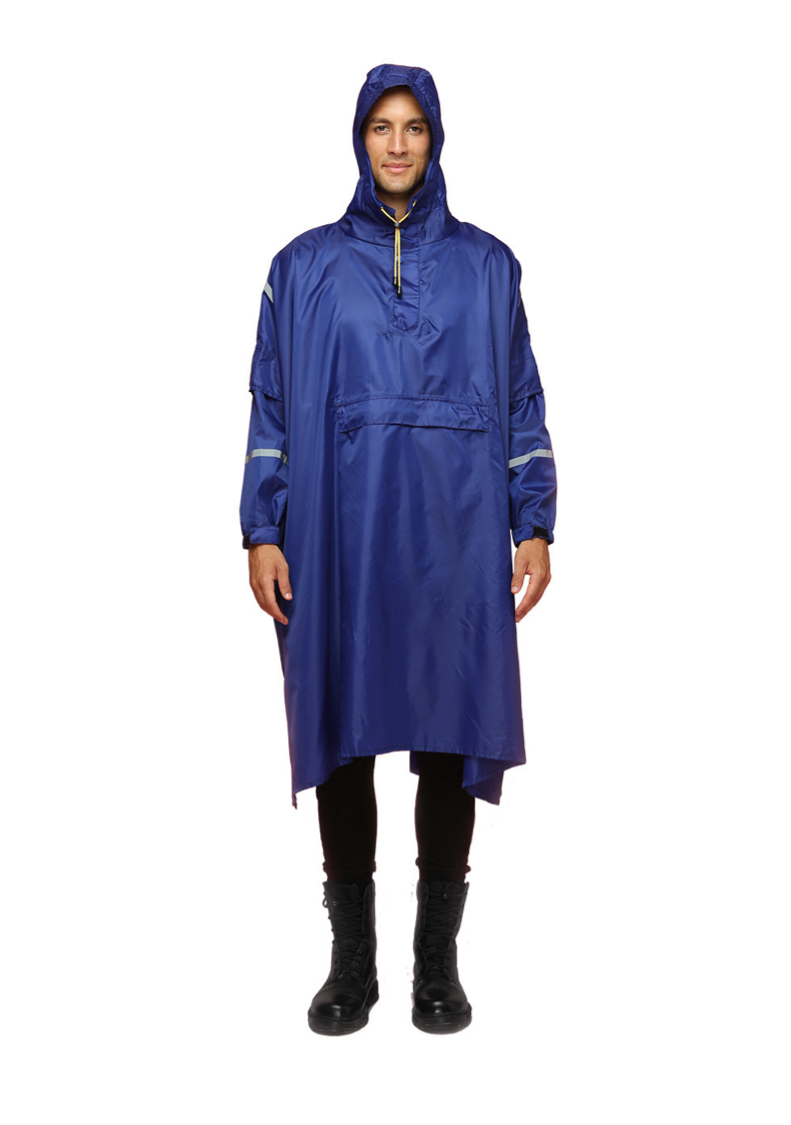 """Komodo Blue"" Eco-Friendly Rain Poncho - 365Dry"
