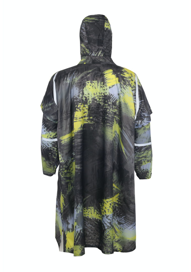 """Karma Kamo"" Eco-Friendly Rain Poncho - 365Dry"