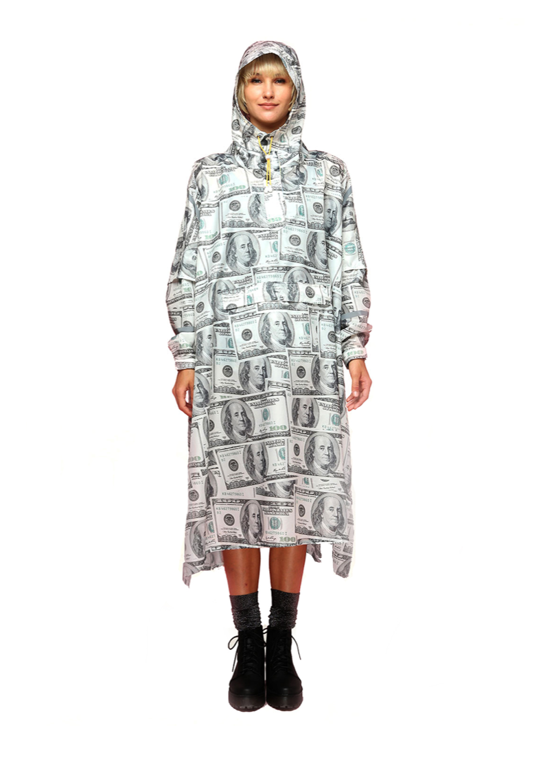 """Make It Rain"" Eco-Friendly Rain Poncho - 365Dry"