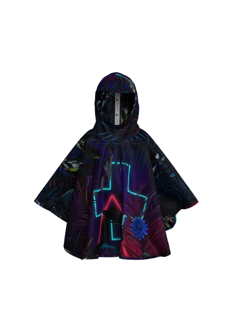 """Neon Forest"" The Mini-Me Eco-Friendly Rain Poncho"