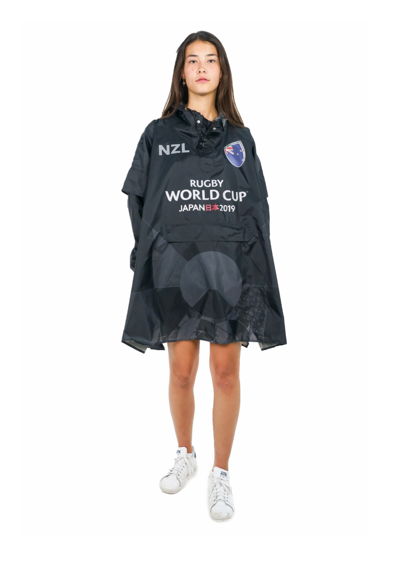 New Zealand Official Rugby World Cup 2019 Eco-Friendly Unisex Rain Poncho - 365Dry