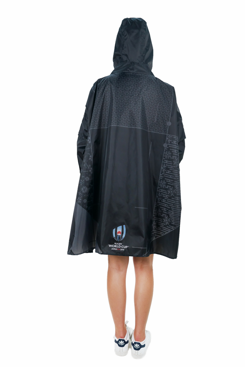 Official Rugby World Cup 2019 Collectors Eco-Friendly Unisex Rain Poncho - 365Dry