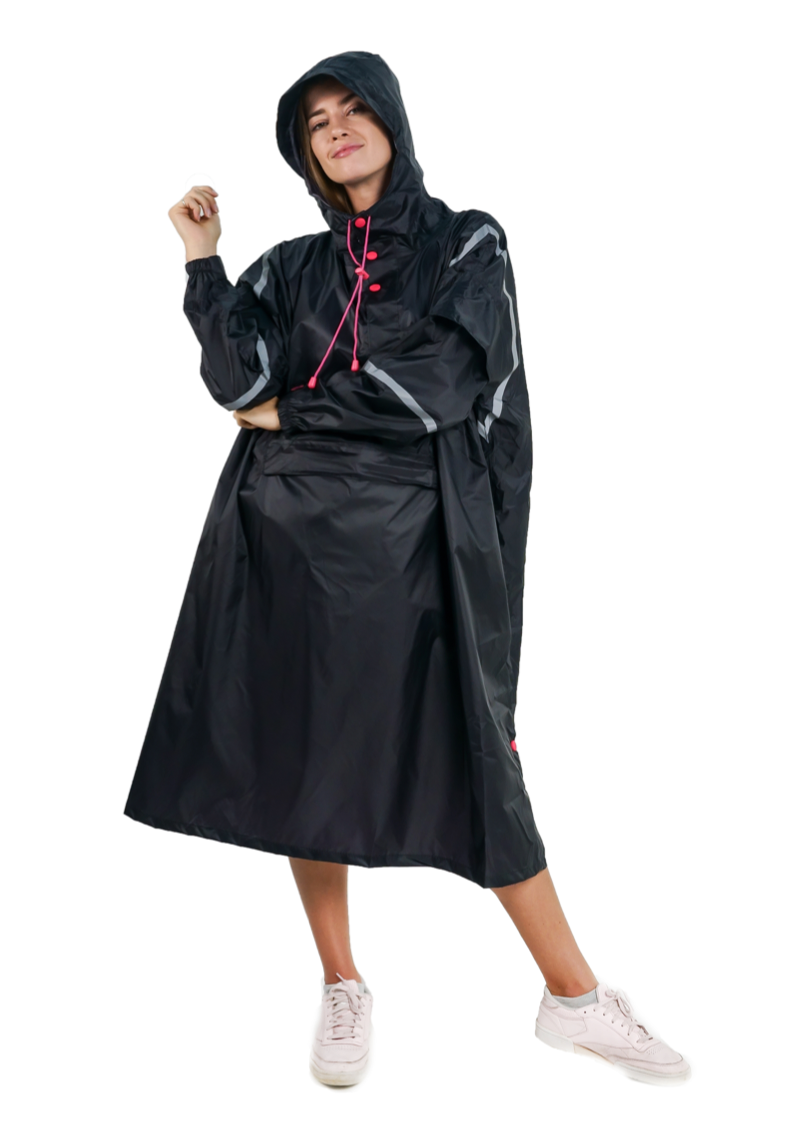 """Neo Assassin"" Eco-Friendly Rain Poncho - 365Dry"