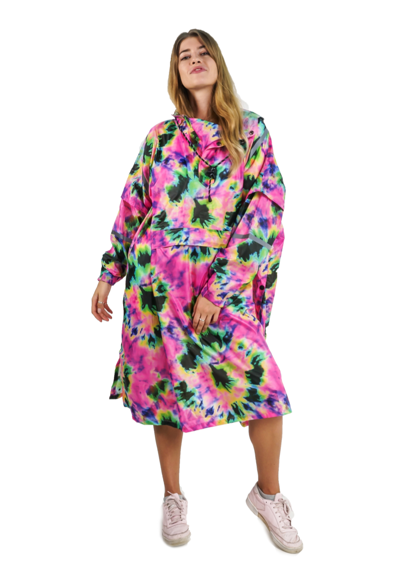 Neon Daze Eco-Friendly Unisex Rain Poncho - 365Dry