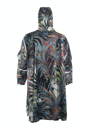 """Omni Leaf Remix"" Eco-Friendly Rain Poncho - 365Dry"