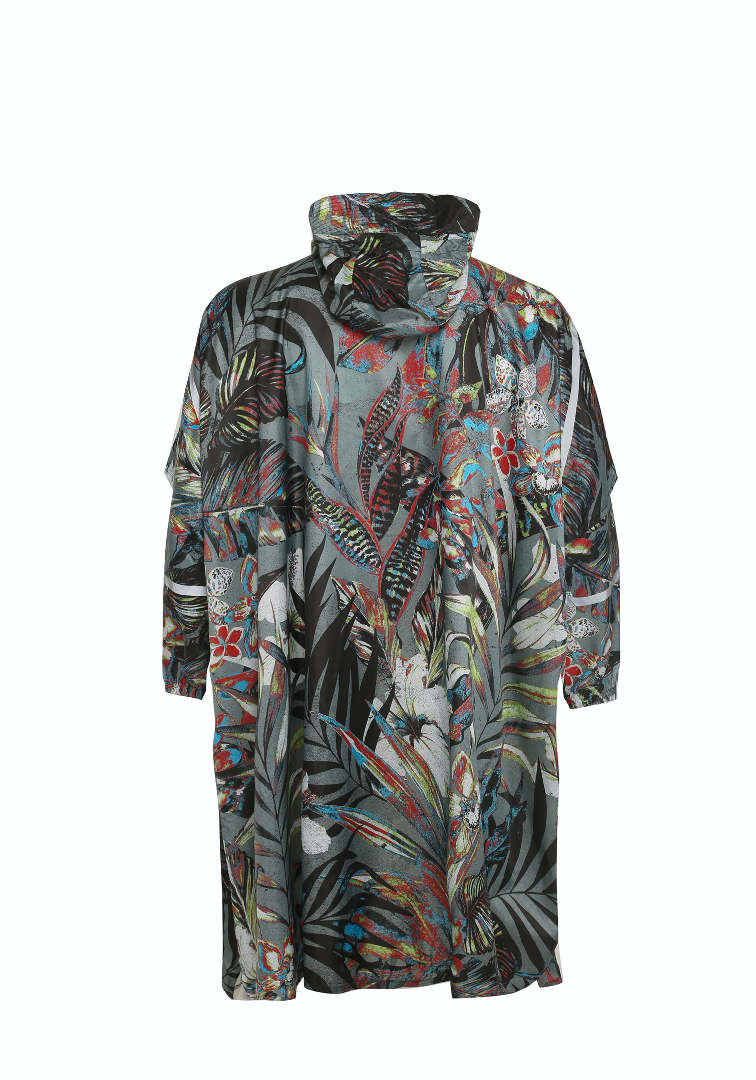 """Omni Leaf Remix"" Eco-Friendly Rain Poncho"