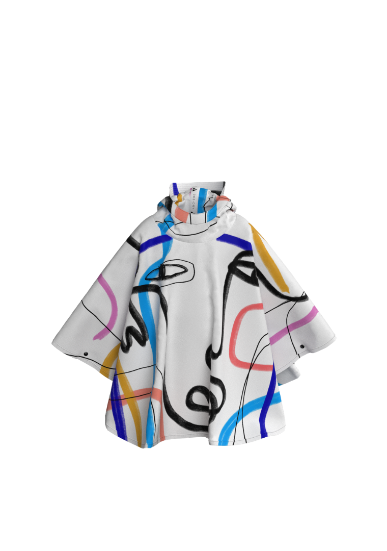 365DRY X KOKETIT: 'The Artist'. The Mini-Me Eco-Friendly Rain Poncho