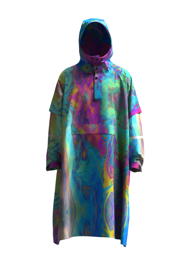 """The Wizard"" Eco-Friendly Rain Poncho"