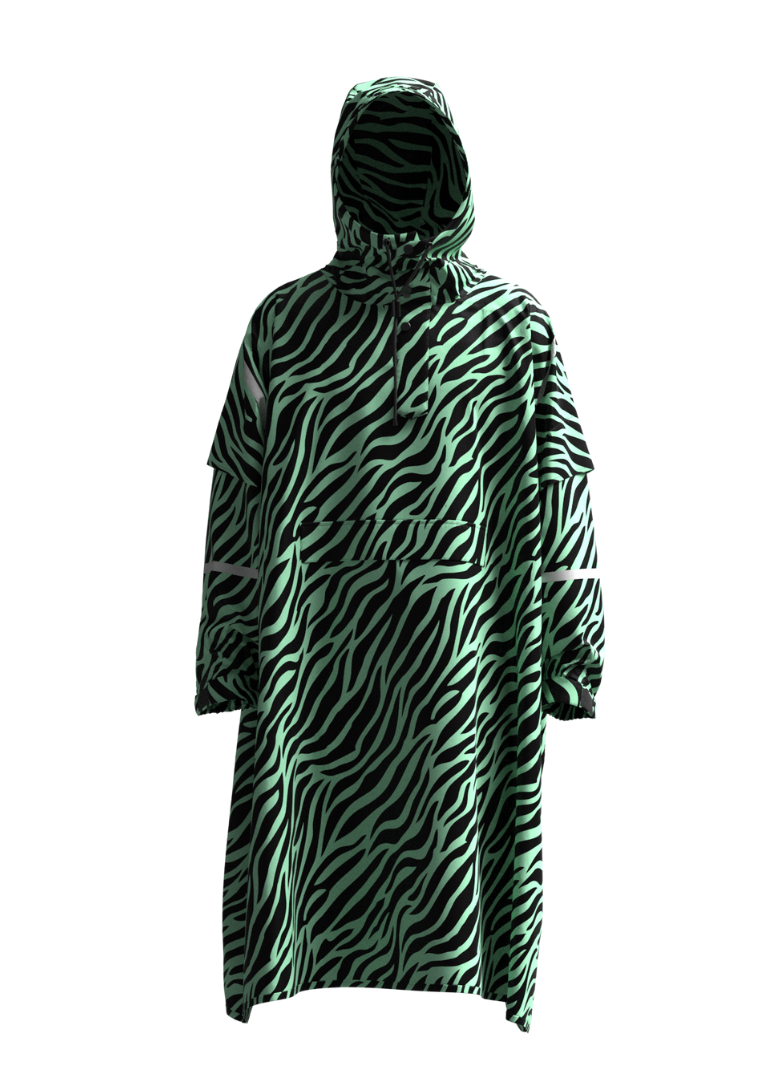 """Zebra Zoltar"" Eco-Friendly Rain Poncho"