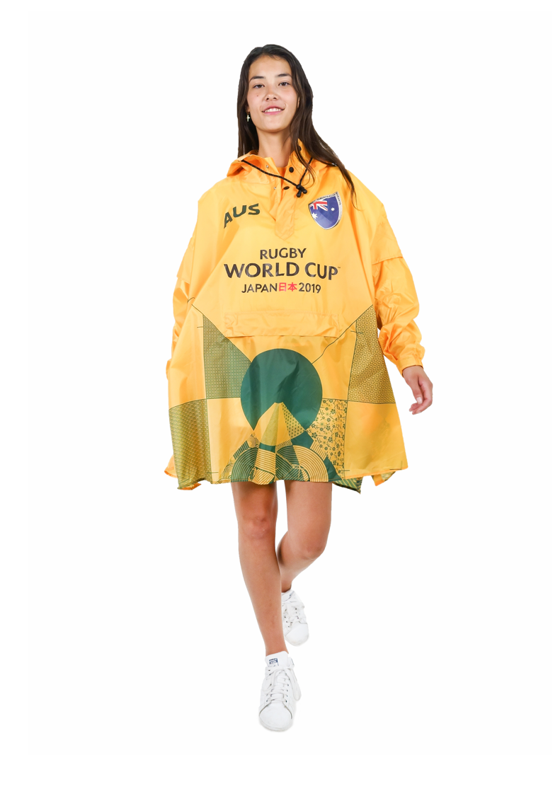 Australia Official Rugby World Cup 2019 Eco-Friendly Unisex Rain Poncho - 365Dry