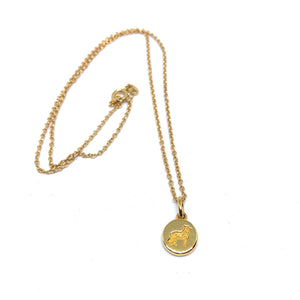 Sheepdog pendant chain - Gold
