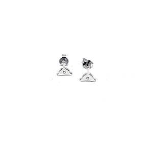 Mini whistle studs - silver