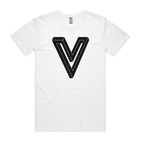 NEW Villainy 'V' 2021 t-shirt - white