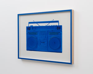 """Blue Boombox - version .001"" by Lyle Owerko"