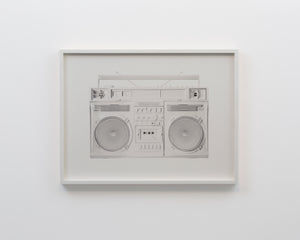 """White Boombox - version .001"" by Lyle Owerko"