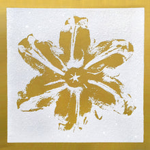 "Load image into Gallery viewer, ""Power Flower, Gold on White"" by Rubem Robierb"