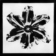 "Load image into Gallery viewer, ""Power Flower, Black on White"" by Rubem Robierb"