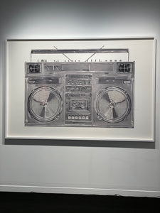 """Chrome Boombox v.001"" by Lyle Owerko"