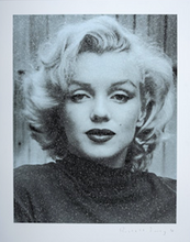 "Load image into Gallery viewer, ""Marilyn Hollywood, Superstar Blue"" by Russell Young"