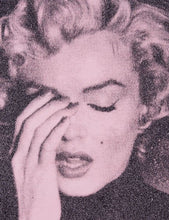 "Load image into Gallery viewer, ""Marilyn Crying, Powder Pink"" by Russell Young"