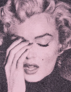 """Marilyn Crying, Powder Pink"" by Russell Young"