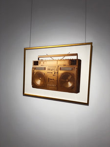 """Gold Boombox - version .001"" by Lyle Owerko"