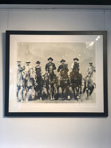 """Magnificent Seven, Revolver White & Black"" by Russell Young"