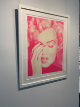 "Load image into Gallery viewer, ""Marilyn Crying, Suicide Pink"" by Russell Young"