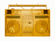 "Load image into Gallery viewer, ""Gold Boombox - version .002"" by Lyle Owerko"