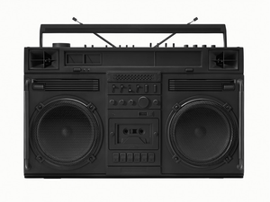 """Black Boombox - version .001"" by Lyle Owerko"