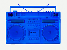 "Load image into Gallery viewer, ""Blue Boombox - version .001"" by Lyle Owerko"