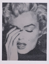 "Load image into Gallery viewer, ""Marilyn on Paper, Ashen Silver and Black"" by Russell Young"
