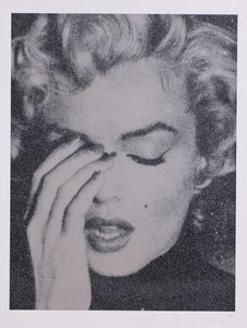 """Marilyn on Paper, Ashen Silver and Black"" by Russell Young"