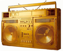 "Load image into Gallery viewer, ""Gold Boombox - version .001"" by Lyle Owerko"