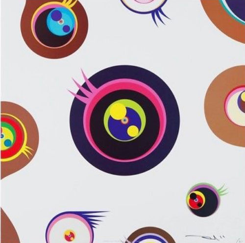 """Jellyfish Eyes – White 1"" by Takashi Murakami"