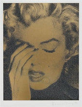 "Load image into Gallery viewer, ""Marilyn Crying, Liquid Gold"" by Russell Young"