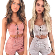 Casual Two Piece Bandage Tracksuit
