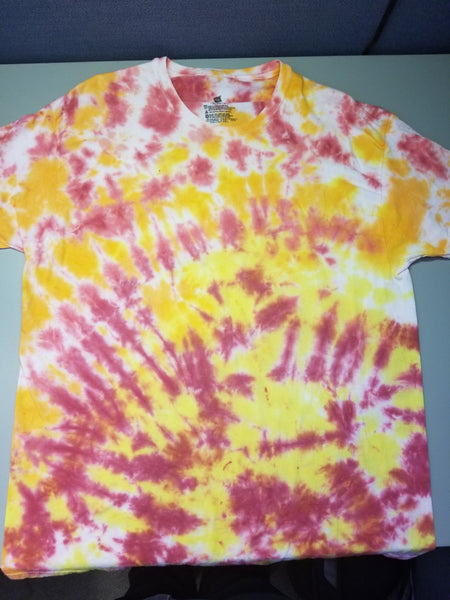 tropical sunrise scrunch XL t-shirt