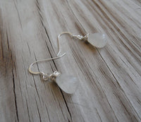 sterling silver and rainbow moonstone wire wrapped smooth teardrop briolette dangle earrings - stone includes black spots