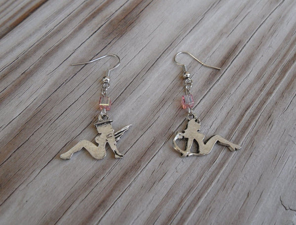 angel and devil pewter earrings