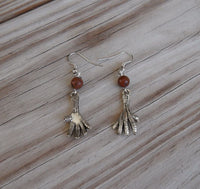 bird claw earrings