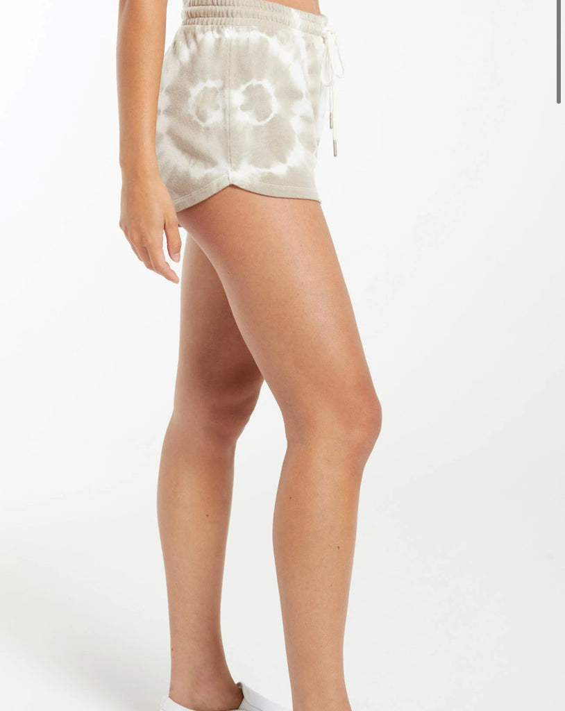 The Sadie Tie Dye Spiral Short in Taupe by Z Supply