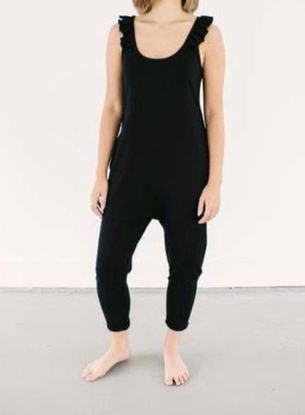The Sweetheart Romper by Smash and Tess in Black