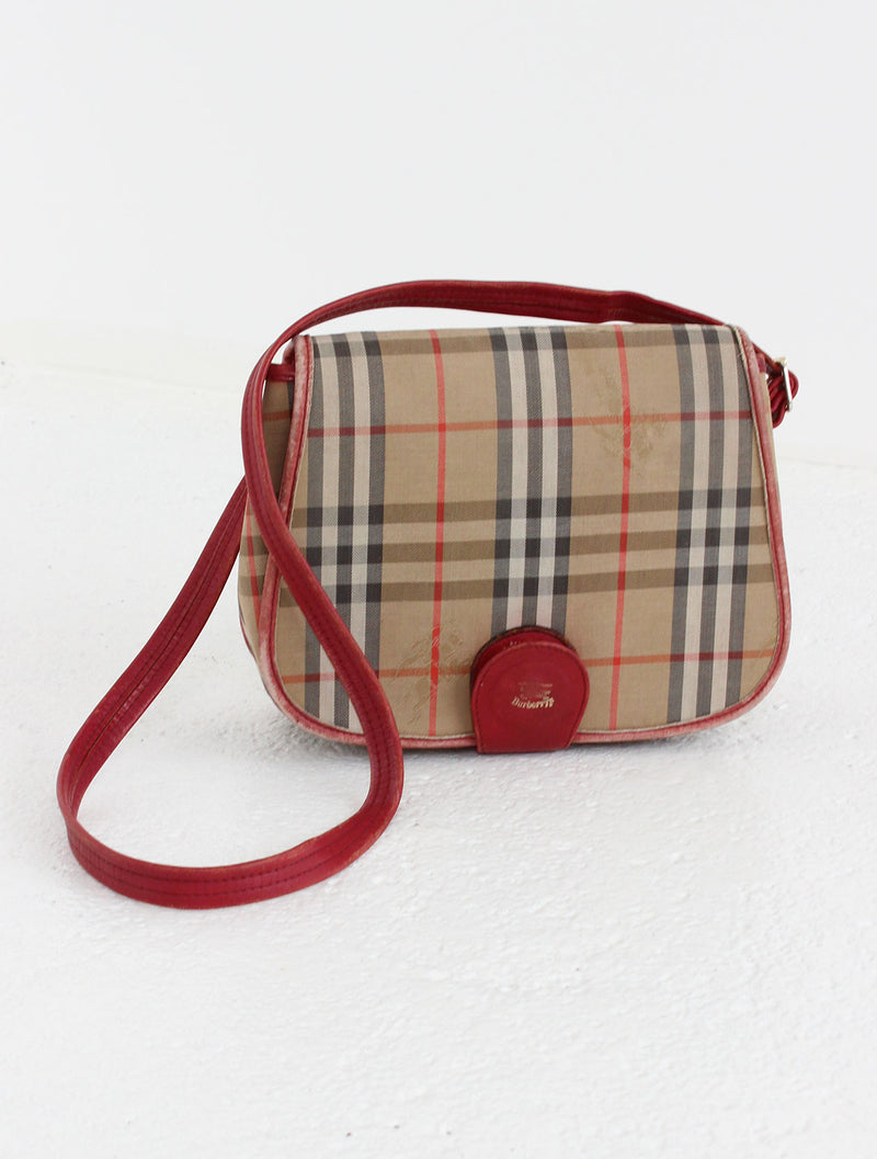 Burberry Nova Check Saddle Bag