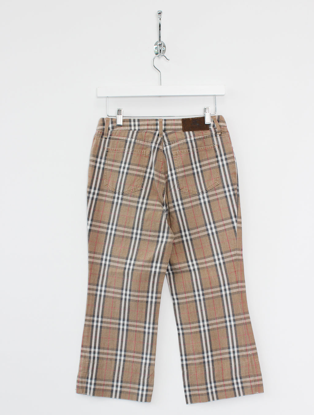 "Women's Burberry Nova Check Cropped Denim Jeans (S/24""-28"")"