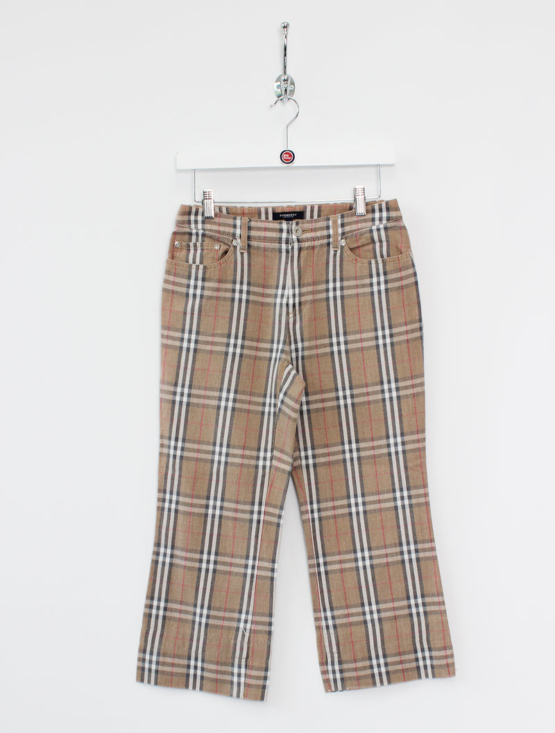 Women's Burberry Nova Check Cropped Denim Jeans (S/24
