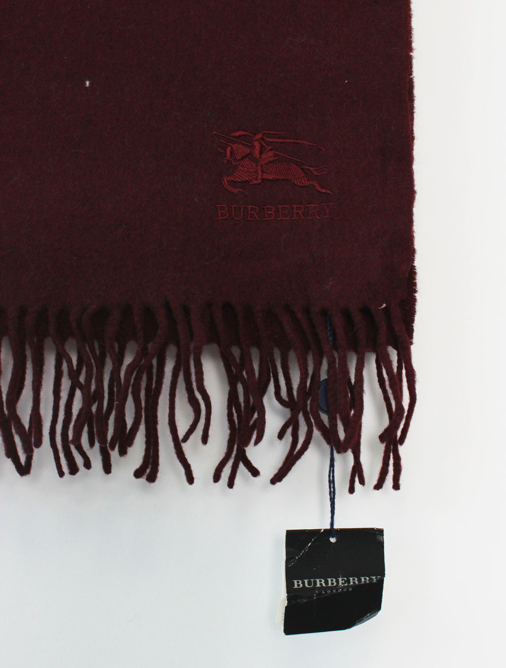 Burberry Scarf BNWT Lambswool Burgundy