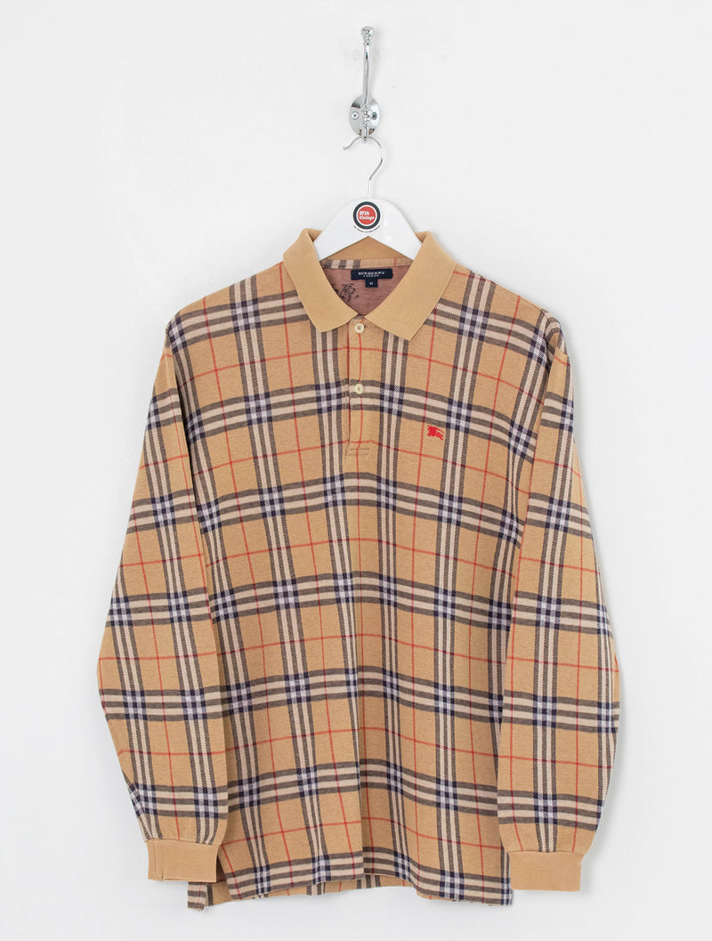 Burberry Longsleeve Polo Shirt (M)